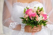Фотосъемка свадьбы Евгения и Снежаны в Могилеве - букет невесты