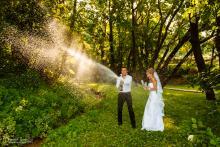 Фотосъемка свадьбы Андрея и Кристины в Могилеве - шампанское