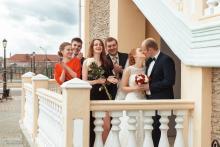 Фотосъемка свадьбы Михаила и Юлии в Круглом - с гостями после ЗАГС-а